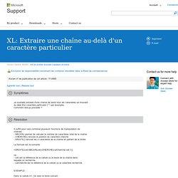 XL: Extraire une chaîne au-delà d'un caractère particulier