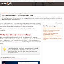 Extraire les images d'un document Word .docx - memoclic