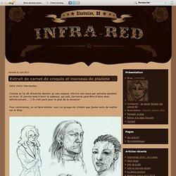 Extrait de carnet de croquis et morceau de planche - Infra-Red
