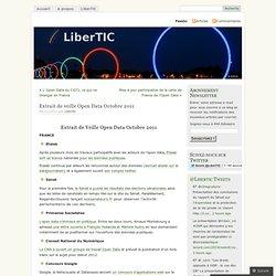 Extrait de veille Open Data Octobre 2011 «