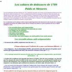 Extraits des cahiers de doléances de 1789