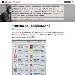"""3) Extraits (p1-20) du livre: """" J'ai débranché"""""""