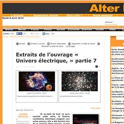 Extraits de l'ouvrage « Univers électrique, » partie 7