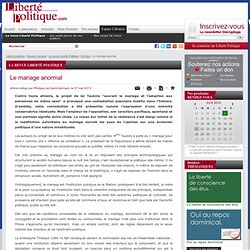 Le mariage anormal - Editorial