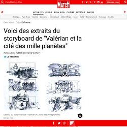 """Voici des extraits du storyboard de """"Valérian et la cité des mille planètes"""""""