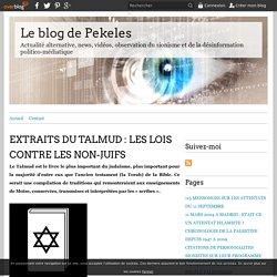 EXTRAITS DU TALMUD : LES LOIS CONTRE LES NON-JUIFS - Le blog de Pekeles