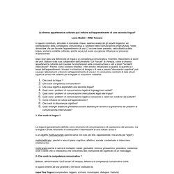 Aspetti linguistici ed extralinguistici della competenza comunicativa