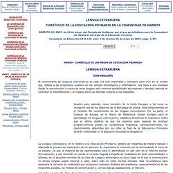 Lengua Extranjera - Educación Primaria - Comunidad de Madrid