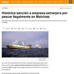 Histórica sanción a empresa extranjera por pescar ilegalmente en Malvinas
