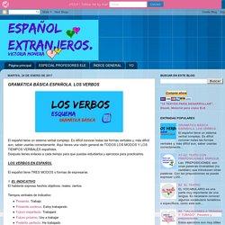 ESPAÑOL EXTRANJEROS. Victoria Monera.: GRAMÁTICA BÁSICA ESPAÑOLA. LOS VERBOS