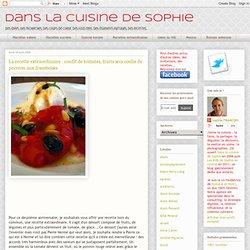 La recette extraordinaire : confit de tomates, fruits secs coulis de poivron aux framboises