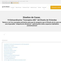 """Diseños de Casas: 19 Extraordinarios """"Conceptos ABC"""""""