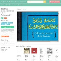 365 Dias Extraordinários - R J Palacio.pdf [nl31wr2e47q1]