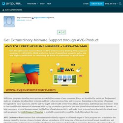 Get Extraordinary Malware Support through AVG Product: avgcustomercare