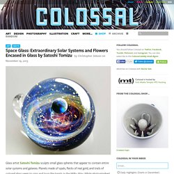 Space Glass: Extraordinary Solar Systems and Flowers Encased in Glass by Satoshi Tomizu