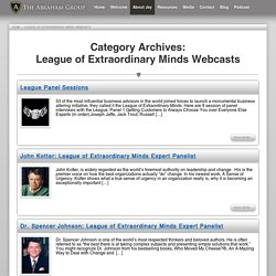 League Of Extraordinary Minds Webcasts