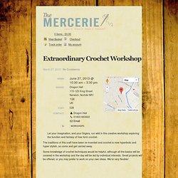 Extraordinary Crochet Workshop