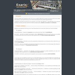 EXARIS JUILLET 2008 Validation, surveillance et vérification; tryptique indissociable