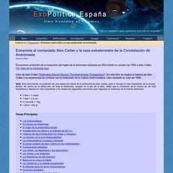 Exopolitica España - Entrevista contactado Alex Collier raza extraterrestre Andrómeda Andromedanos