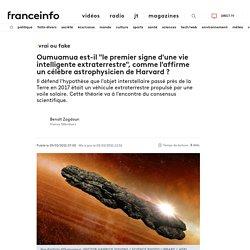 """VRAI OU FAKE. Oumuamua est-il """"le premier signe d'une vie intelligente extraterrestre"""", comme l'affirme un célèbre astrophysicien de Harvard ?"""