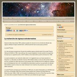 La recherche de signaux extraterrestres