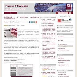 Le portail Finance & Stratégies de Sia Conseil