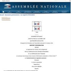 N°4082 - Rapport d'information de Mme Karine Berger déposé en application de l'article 145 du règlement en conclusion des travaux de la mission d'information commune sur l'extraterritorialité de la législation américaine