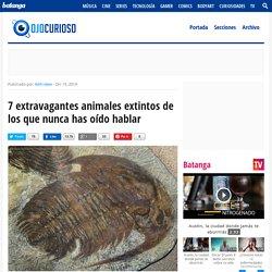 7 extravagantes animales extintos de los que nunca has oído hablar - Ojo Curioso