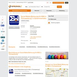 "Social Media Betreuung für KMU´s ""Extrawerbung"" , Socialmedia, SocialMedia Beratung in Bergweg, Schemmerhofen"
