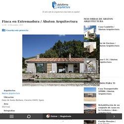 Finca en Extremadura / Ábaton Arquitectura
