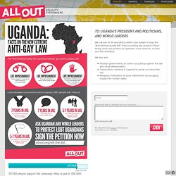 24 hours to stop Uganda's anti-gay bill