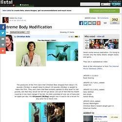 Extreme Body Modification list