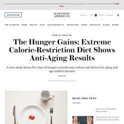The Hunger Gains: Extreme Calorie-Restriction Diet Shows Anti-Aging Results