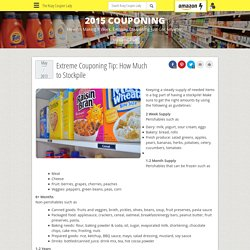 Extreme Couponing Tip: How Much to Stockpile - The Krazy Coupon Lady