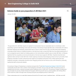 Extreme Guide on your preparation of JEE Main 2021