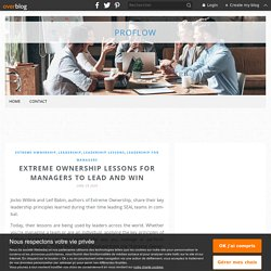 Extreme Ownership Lessons for Managers To Lead and Win
