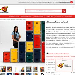 Heavy duty extreme plastic lockers for storage