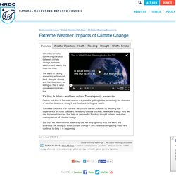 Extreme Weather, Climate Change