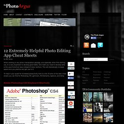 12 Extremely Helpful Photo Editing App Cheat Sheets | Resources