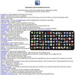 Extremely Useful Macbook Freeware