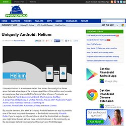 Helium is an extremely handy app backup solution for Android