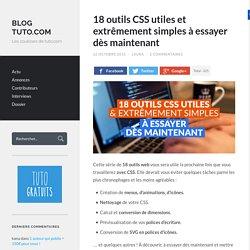 18 outils CSS utiles et extrêmement simples à essayer dès maintenant