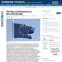 The Rise of Extremism in a Disunited Europe