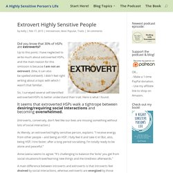 Extrovert Highly Sensitive People - A Highly Sensitive Person's Life