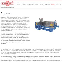 Extruder Machine Manufacturer & Supplier in India