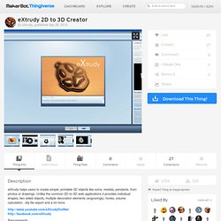 eXtrudy 2D to 3D Creator by eXtrudy