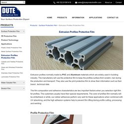Extrusion Profiles Surface