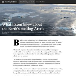 What Exxon knew about the Earth's melting Arctic