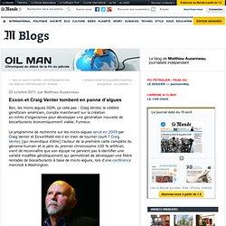 Exxon et Craig Venter tombent en panne d'algues