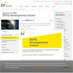 BEPS developments tracker
